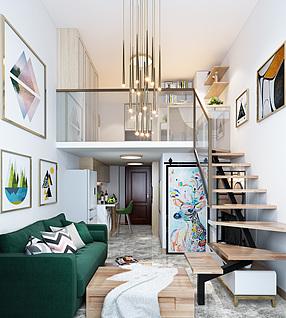 现代公寓3d模型