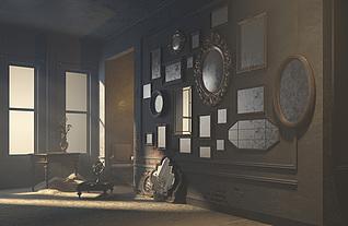 复古房间3d模型