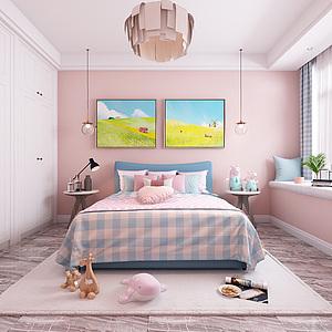女兒房兒童房3d模型