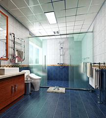現代簡約衛生間洗手間3D模型