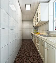 現代簡約廚房3D模型