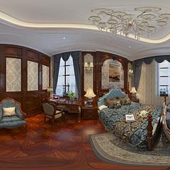 别墅卧室整体模型