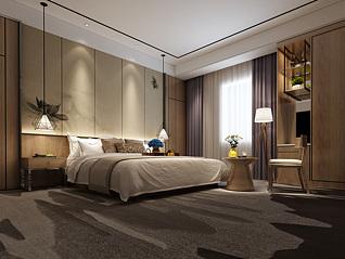 酒店客房工装3d模型