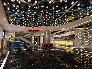 ktv前台大厅3d模型