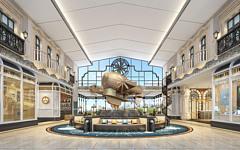 商場大廳3D模型