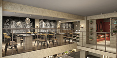 创意现代餐厅3D模型