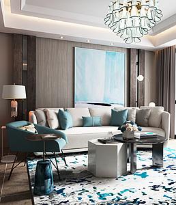 现代客厅沙发组合3d模型