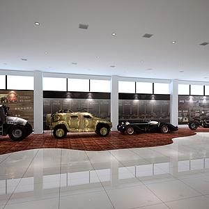 汽車專賣店整體模型
