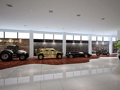 <font class='myIsRed'>汽車</font>專賣店整體模型