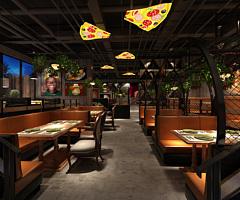 工業風西餐廳3D模型