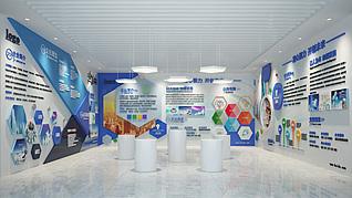 企业文化墙公司展厅3d模型