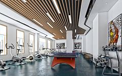现代简约健身房3D模型