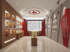 现代简约荣誉展厅红色展厅3D模型