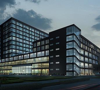 室外建筑现代主义风格广场