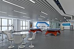 现代简约健身房活动区3D模型