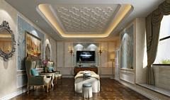 歐式風格的美容美發spa間3D模型