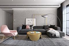 现代客厅沙发茶几组合3D模型
