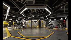 10版工业风健身房3D模型