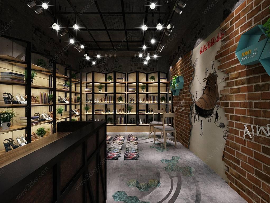 工业风鞋店