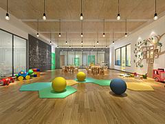 现代风格的幼儿园3D模型