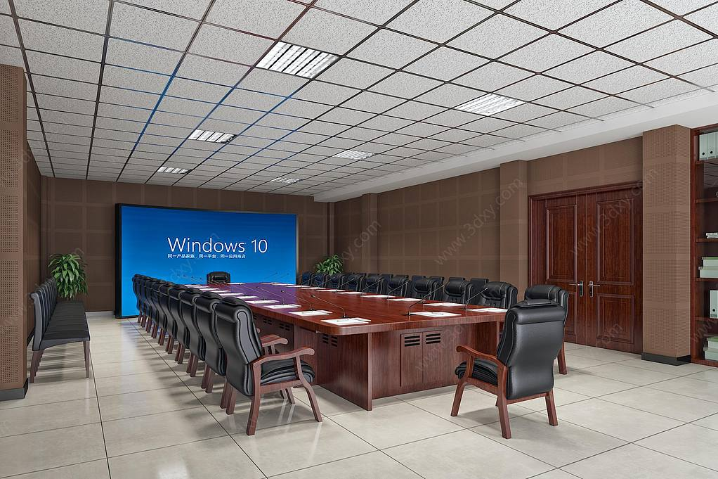 中式大会议室