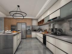 現代北歐廚房櫥柜3D模型3D模型