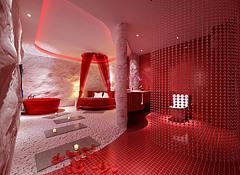 现代套房酒店主题套房3D模型