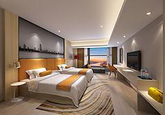 现代套房双人房总统套房3D模型