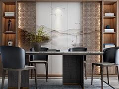新中式餐廳3D模型