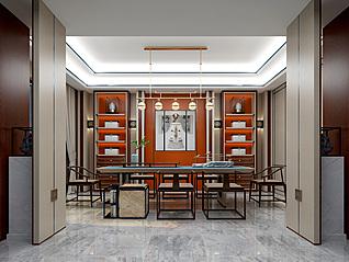中式书房3d模型
