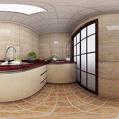 新中式廚房整體模型