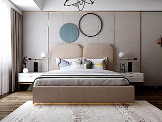 轻奢床3d模型