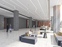 现代简约大厅大堂前台接待3d模型