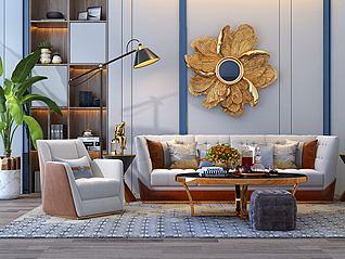 后现代沙发组合3d模型