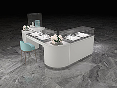 珠宝空间柜台工装设计3D模型