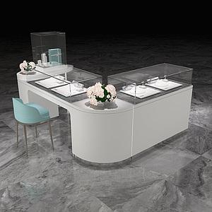 珠寶空間柜臺工裝設計3d模型