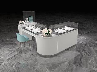 珠宝空间柜台设计工装模型
