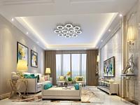 现代简约客厅及玄关3d模型
