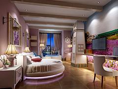 酒店客房現代臥室主題套房3D模型