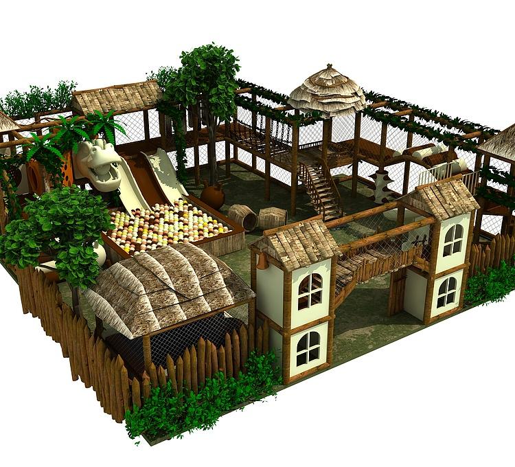 稻草风格淘气堡儿童乐园