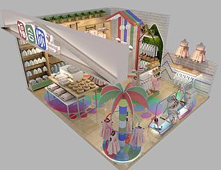 童装店3d模型