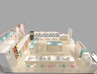 儿童烘焙店3d模型