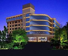 酒店建筑外觀3D模型