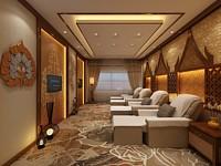 酒店足疗间3d模型