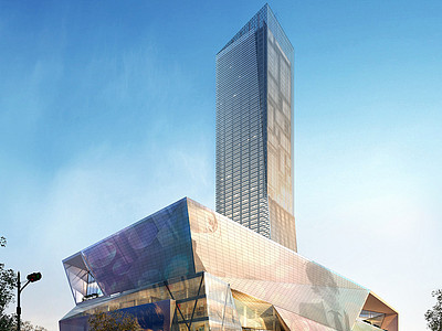工裝建筑室外場景全模綜合3d模型