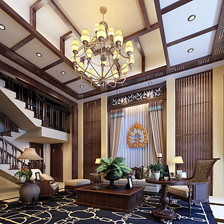 东南亚风格3d模型