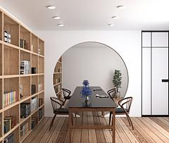 现代简约书房3D模型