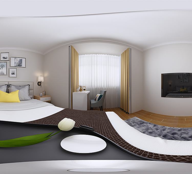 现代北欧主卧室