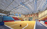 篮球场馆3d模型