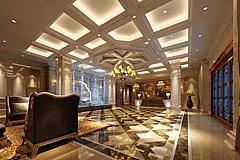 后现代风格的酒店大堂3D模型